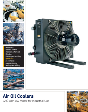 Air Oil Coolers LAC with AC Motor for Industrial Use