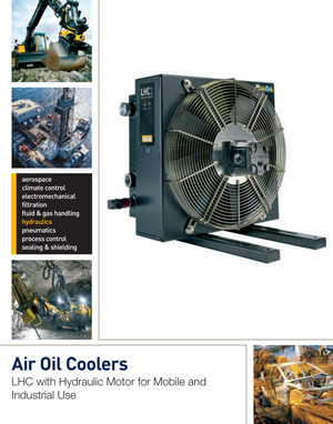Air Oil Coolers LHC with Hydraulic Motor for Mobile and Industrial Use