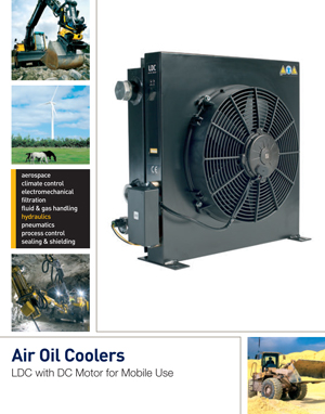 Air Oil Coolers LDC with DC Motor for Mobile Use
