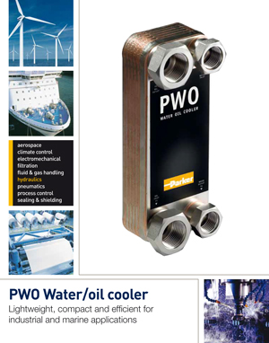 PWO Water/oil cooler Lightweight, compact and efficient for industrial and marine applications