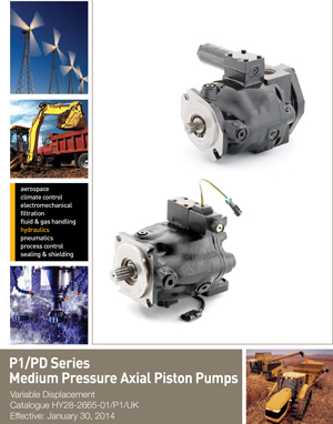 P1/PD Series Medium Pressure Axial Piston Pumps Variable Displacement Catalogue HY28-2665-01/P1/UK