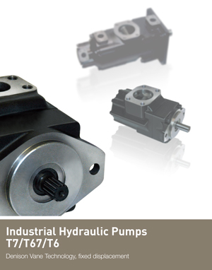 Industrial Hydraulic Pumps T7/T67/T6 Denison Vane Technology, fixed displacement