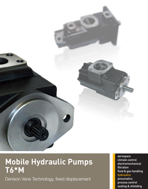 Mobile Hydraulic Pumps T6*M Denison Vane Technology, fixed displacement