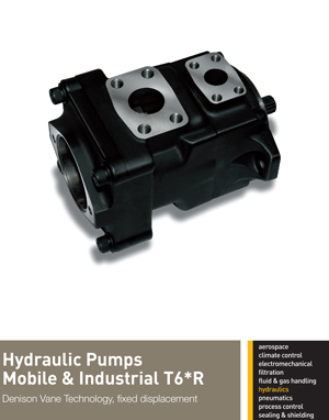 Hydraulic Pumps Mobile & Industrial T6*R Denison Vane Technology, fixed displacement