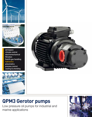 QPM3 Gerotor pumps Low pressure oil pumps for industrial and marine applications