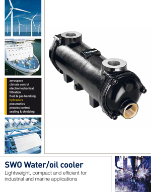SWO Water/oil cooler Lightweight, compact and efficient for industrial and marine applications
